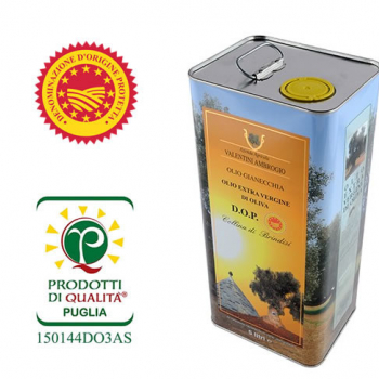 Gianecchia extra virgin olive oil - PDO certified - 5 litre can